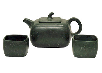 Green Sand Clay Teaset